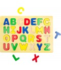 Puzzle farebné písmená