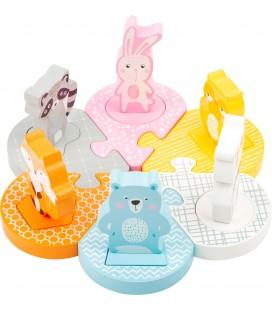 Vkladacie puzzle s pastelovými zvieratkami