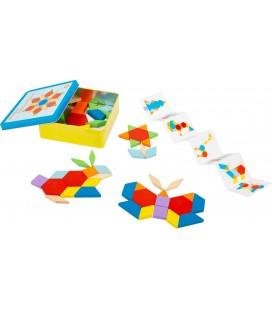 Tangram mozaika v krabičke