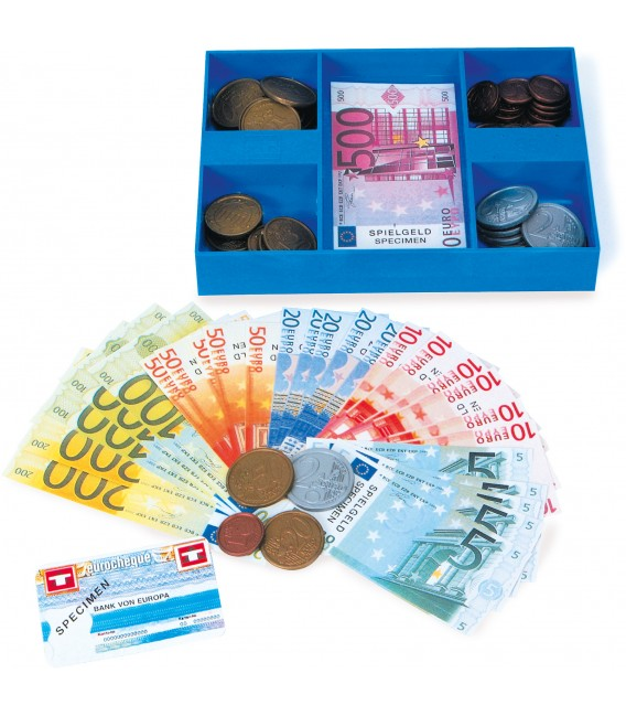Detské peniaze EURO v krabičke