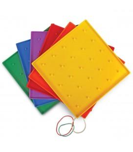 Geoboard farebný s gumičkami (rôzne farby)