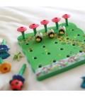 Zastrkovacia záhradka s kvetmi
