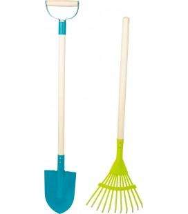 Záhradný set 2ks - hrable a rýľ pre deti