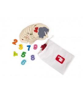 Vkladacie puzzle s číslami I learn