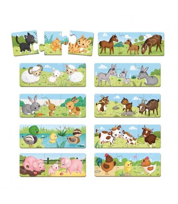 Puzzle Trionimo zvieracie rodinky