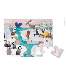 Dotykové puzzle Život na ľade, s textúrami