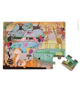 Dotykové puzzle Deň v ZOO, s textúrami