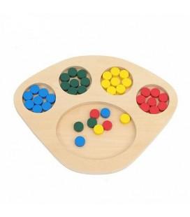 Montessori podnos na triedenie