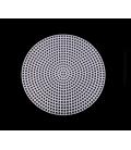 Plastová mriežka na vyšívanie, kruhová