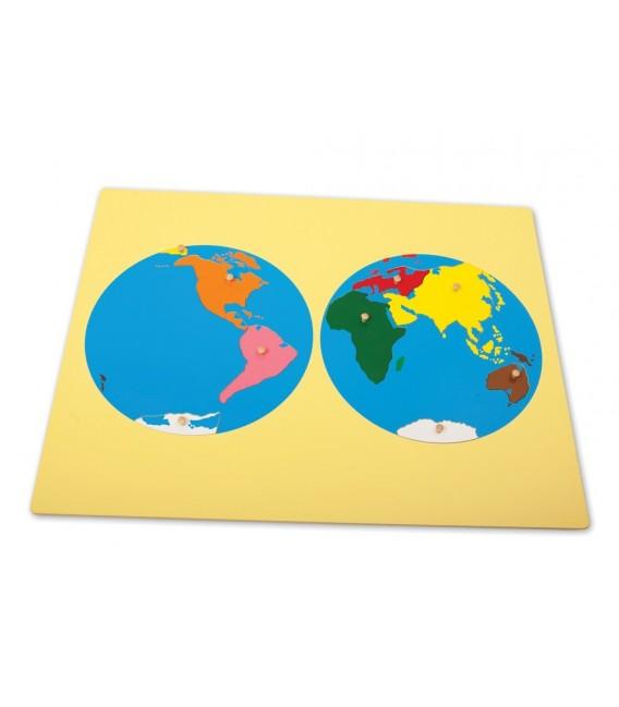 Montessori mapa sveta