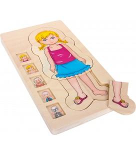 Viacvrstvové anatomické puzzle Dievča