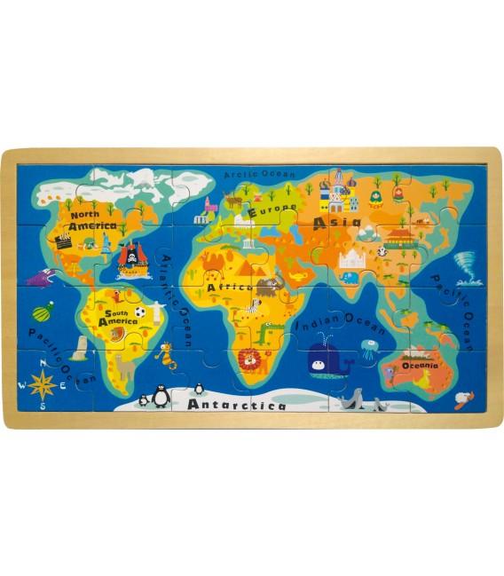 Puzzle mapa sveta