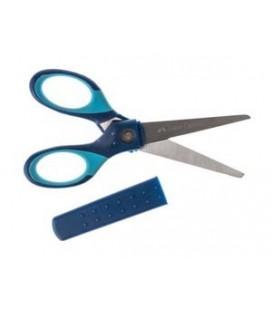Nožnice s ochranným krytom, modré