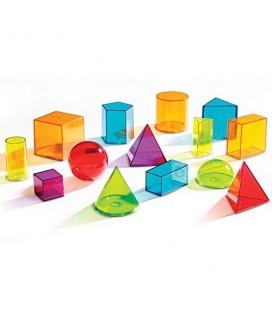 Geometrické telesá, farebné plniteľné