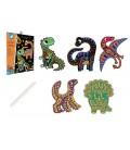 Vyškrabovacie obrázky - Dinosaury