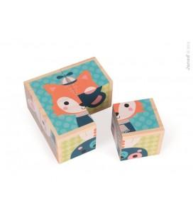 Obrázkové kocky - Lesné zvieratká Baby Forest