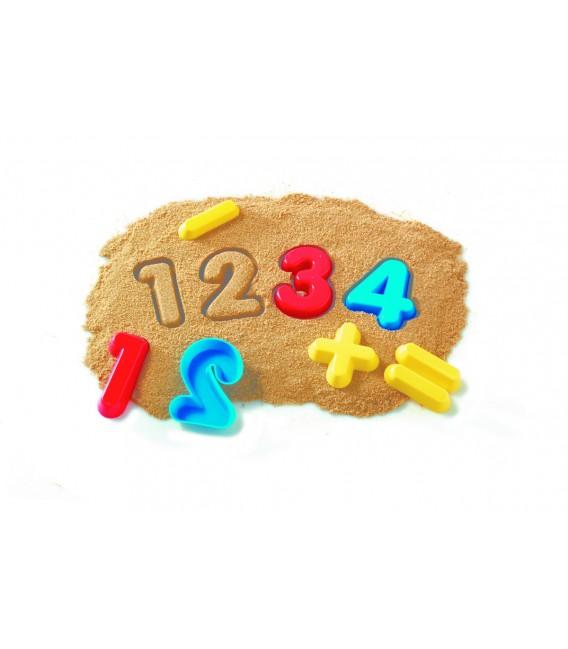 Formičky do piesku - čísla