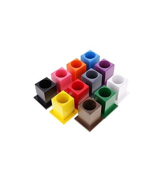 Montessori stojany na pastelky 11 ks