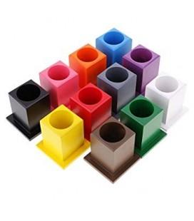 Montessori stojany na pastelky, 11 ks
