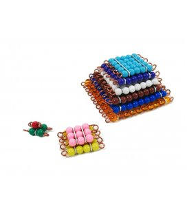 Montessori farebné perlové štvorce