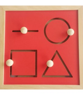 Montessori motorický labyrint tvary