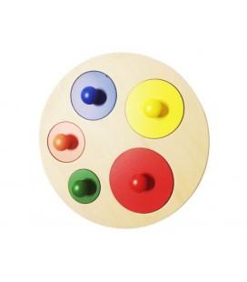 Montessori puzzle 5 kruhov