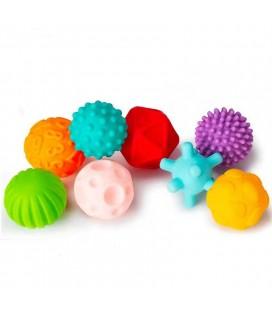 Farebné hmatové loptičky 8ks, pastelové