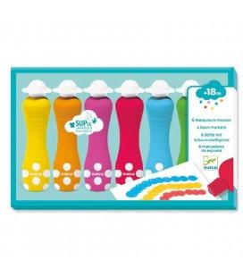Farby v tube s penovým hrotom (Dot Marker)
