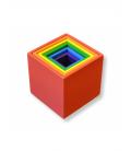 Farebné dúhové krabičky 6ks