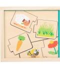 Puzzle Čo jedia zvieratká?