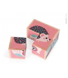 Obrázkové kocky - Lesné mláďatká Baby Forest (ružové)