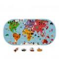 Mapa sveta, puzzle do vody