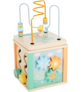 Motorická kocka s labyrintom, pastelová