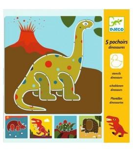 Kreslenie podľa šablóny Dinosaury