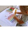 Farby v tube s penovým hrotom