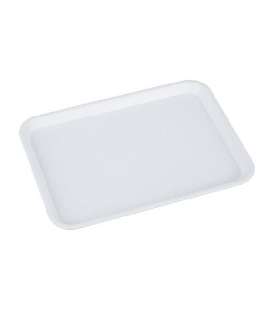 Podnos plastový biely 41x30 cm