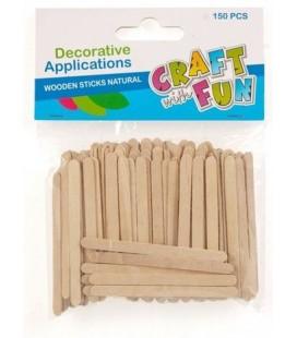 Paličky drevené prírodné 150ks