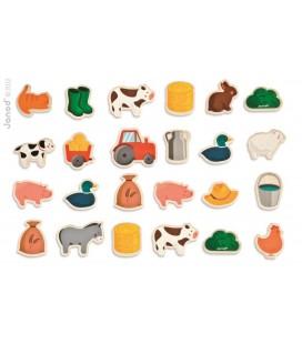 Magnetky Zvieratká na farme