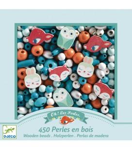 Drevené koráliky - Zvieratká z lesa