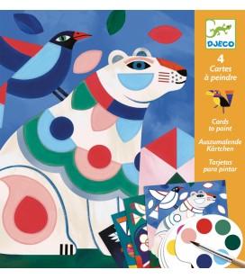 Maľovanie s vodovými farbami – Farebné zvieratá