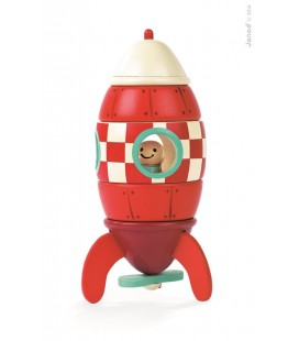 Raketa, drevená magnetická skladačka