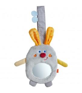 Zajačik so zrkadielkom, hračka na zavesenie