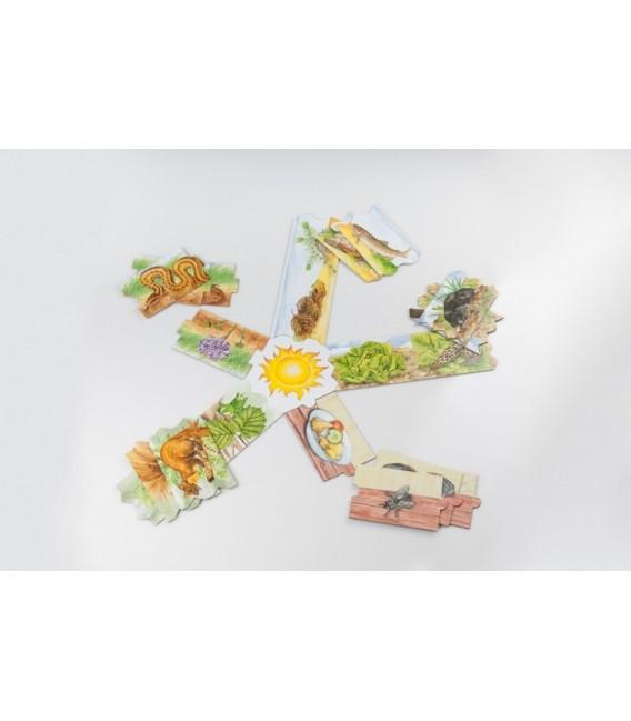 Zjem ťa - puzzle s potravinovým reťazcom