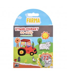 Farma - Vymaľovanky na cesty s voskovkami