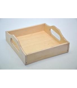 Podnos malý štvorcový s rukoväťkami 16,5x16,5 cm