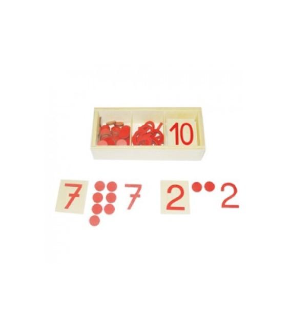Montessori čísla a žetóny