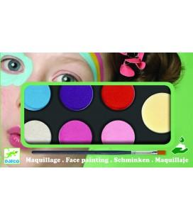 Farby na tvár – jemné odtiene