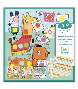 Farebné puntíky - tvorenie so samolepkami