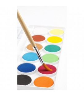 Sada vodových farieb - základné farby (12 ks)