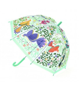 Detský dáždnik - kvety a vtáčiky